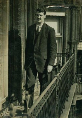 Michael Collins at Downing Street No 10 in London 1921
