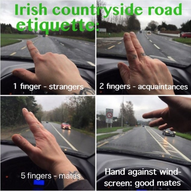 Road Etiquette Irland by Broadsheet