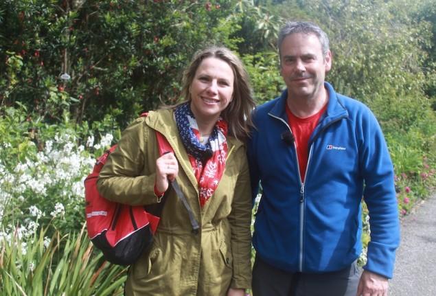 Andrea Grießmann und Markus Bäuchle auf Garinish Island