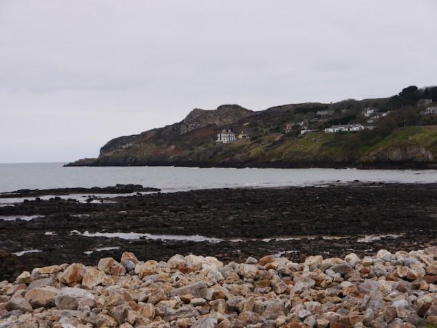Bucht von Howth, wo Dublins Küsten-Garnele gfangen wird