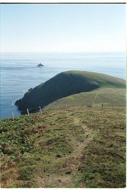 Das westliche Ende von Dursey Island an der Spitze der Beara Halbinsel