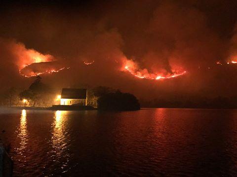 GGougane Barra in Flammen