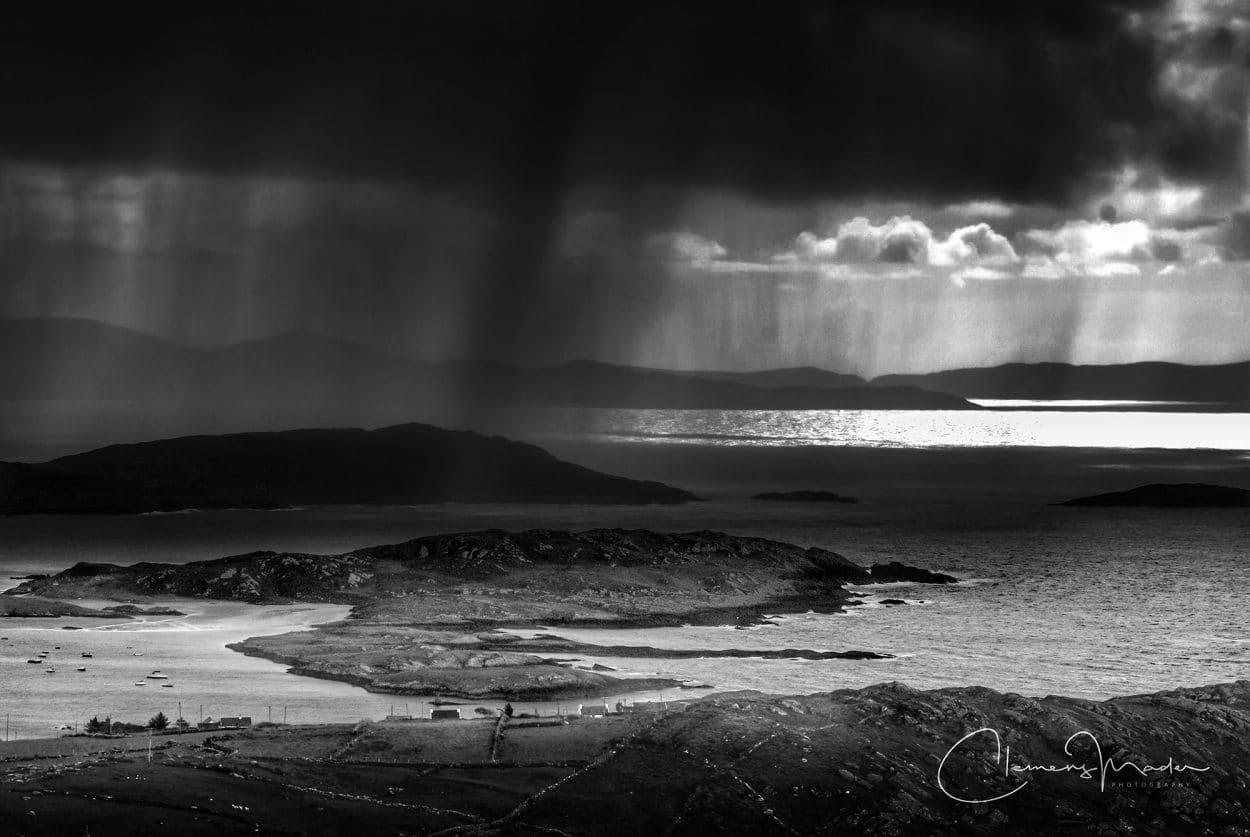 Irlandnews, Irland in schwarz weiß, Derrynane Beach, Clemens Mader