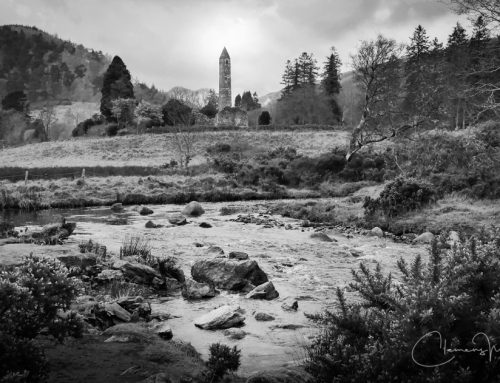 Irland in Schwarz-Weiß: Glendalough, Co. Wicklow.