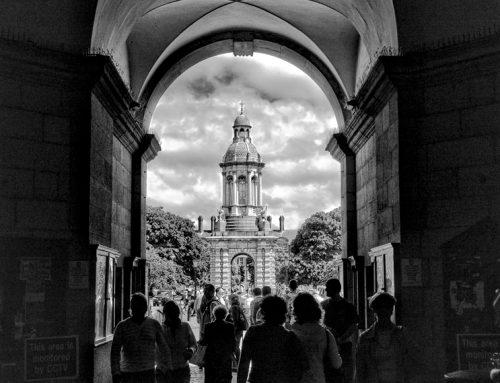 Irland in Schwarz-Weiß: Trinity College Dublin